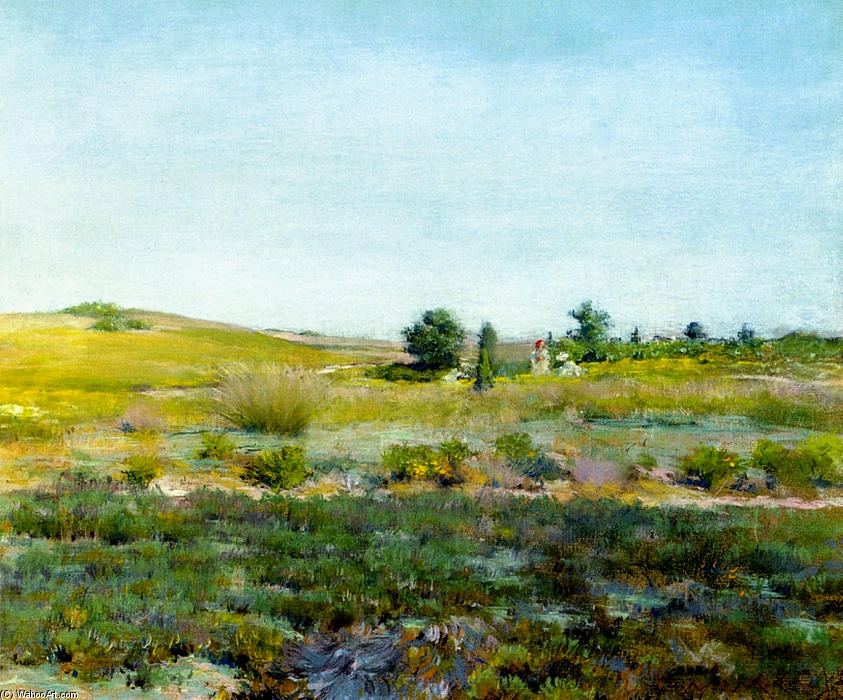 famous painting Shinnecock Hills, Summer of William Merritt Chase