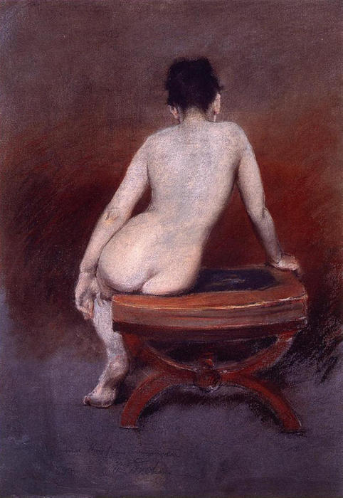 famous painting Back of a Nude of William Merritt Chase