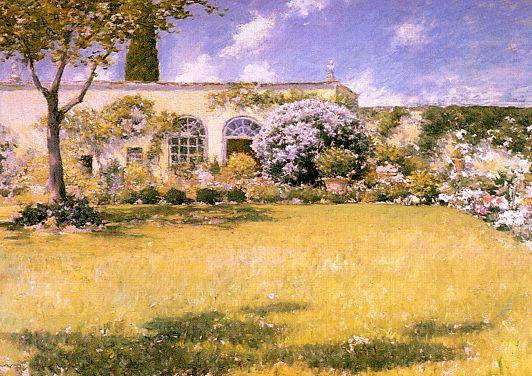 famous painting The Orangerie of William Merritt Chase