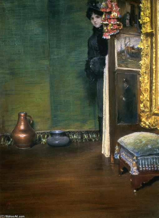 famous painting May I Come In of William Merritt Chase