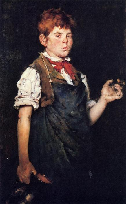famous painting The Apprentice, aka Boy Smoking of William Merritt Chase