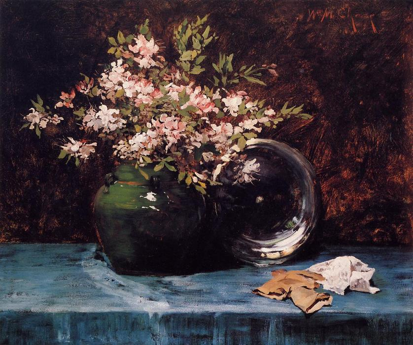 famous painting Azaleas of William Merritt Chase
