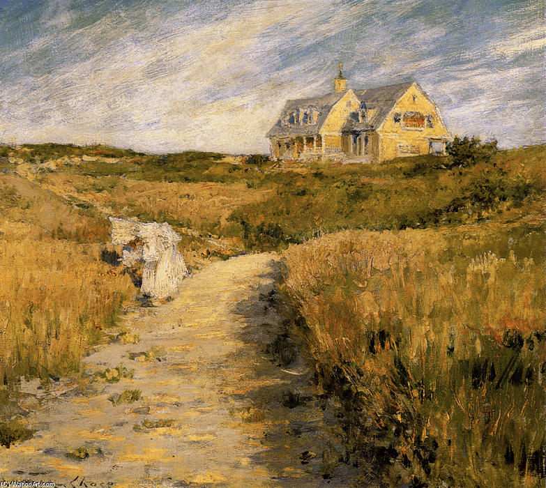 famous painting The Chase Homestead at Shinnecock of William Merritt Chase