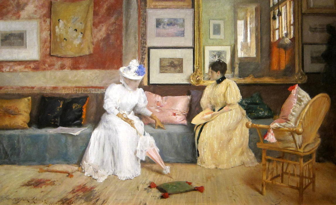 famous painting A Friendly Call of William Merritt Chase