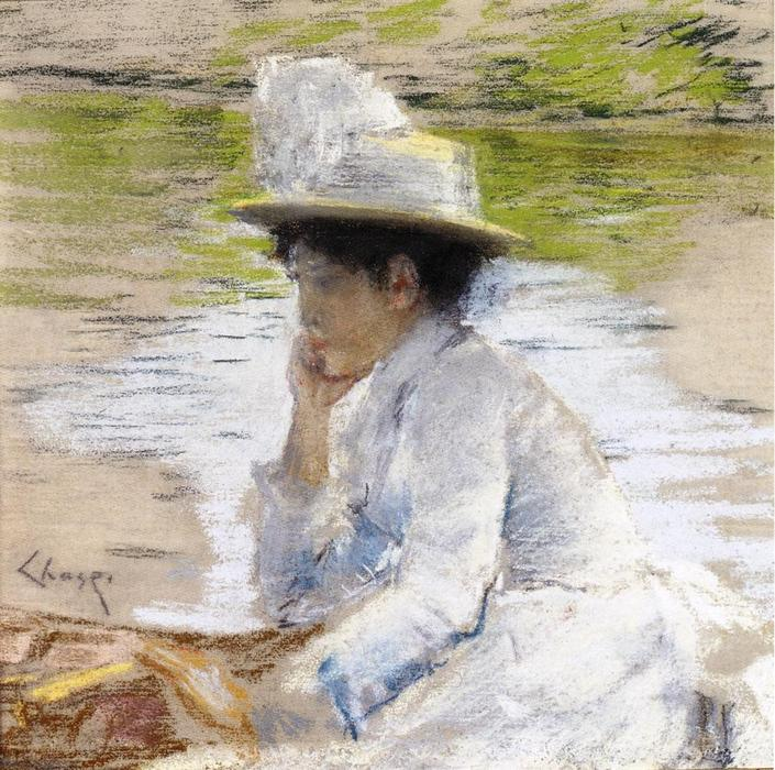 famous painting Portrait of Mrs. Chase of William Merritt Chase