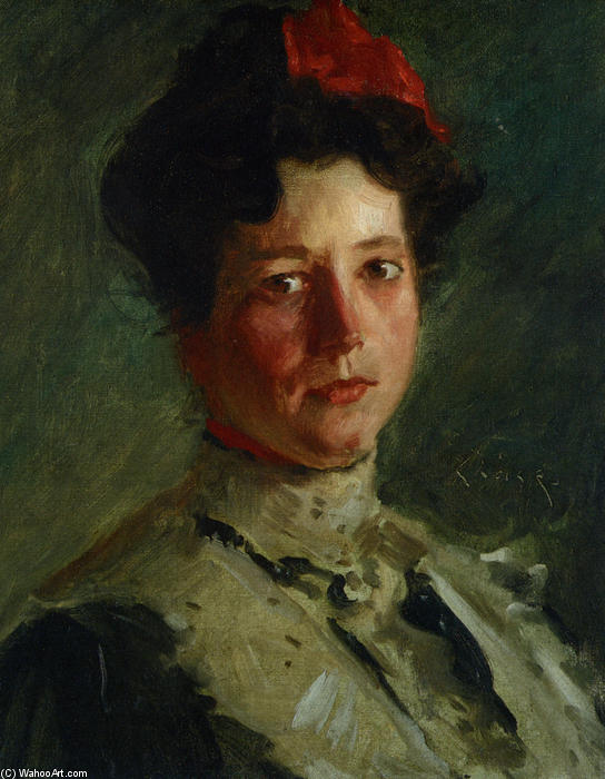 famous painting Portrait of Martha Walter of William Merritt Chase