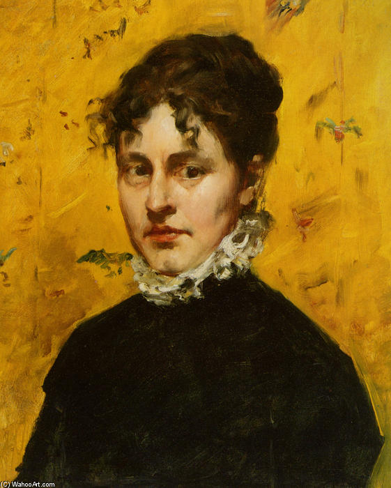 famous painting Portrait of the Artist's Sister-in-Law of William Merritt Chase