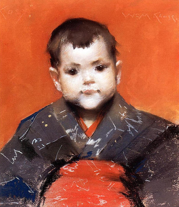 famous painting My Baby (aka Cosy) of William Merritt Chase