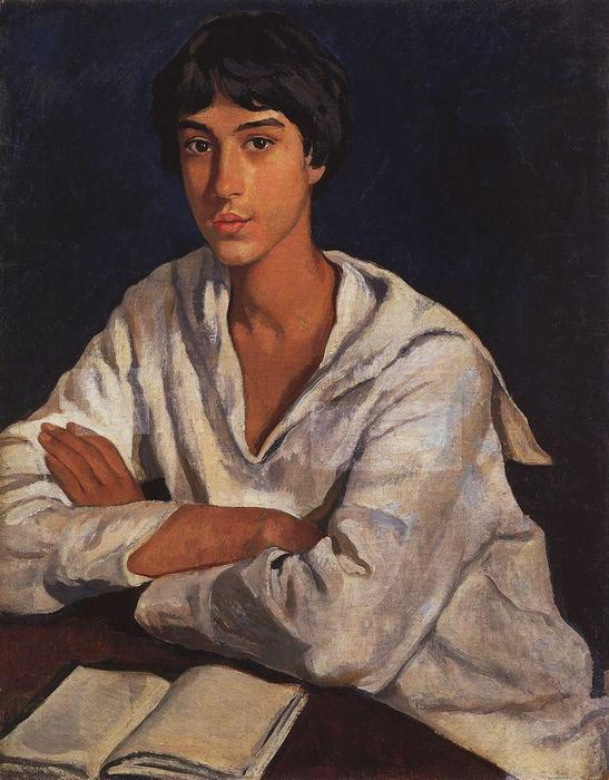 famous painting Portrait of E.I. Zolotarevskii in childhood  of Zinaida Serebriakova