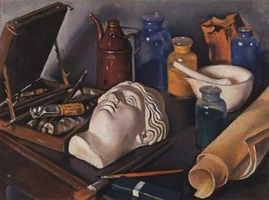 Zinaida Serebriakova - Still life attributes of art