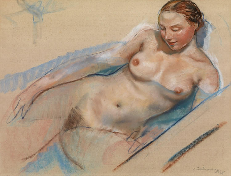 famous painting Bathing Nude  of Zinaida Serebriakova
