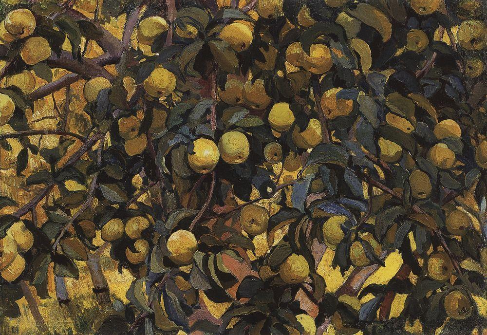 famous painting Apples on the branches  of Zinaida Serebriakova