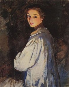 Zinaida Serebriakova - Girl with a candle. Self portrait