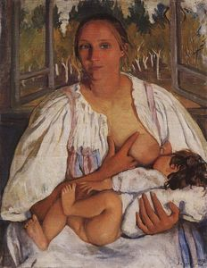 Zinaida Serebriakova - Nurse with baby