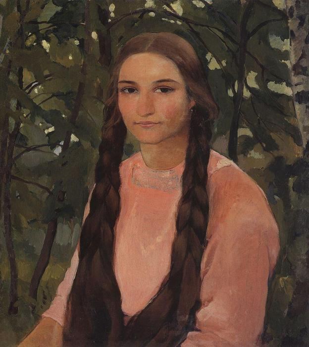 famous painting Portrait of E.M. Edwards  of Zinaida Serebriakova