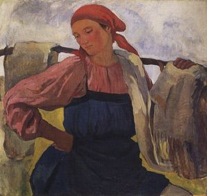 Zinaida Serebriakova - Peasant Woman (with rocker)