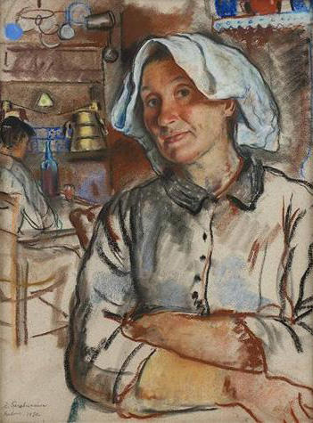 famous painting The pride of the housewife of Zinaida Serebriakova