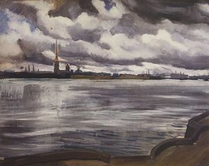 Zinaida Serebriakova - View of the Peter and Paul Fortress
