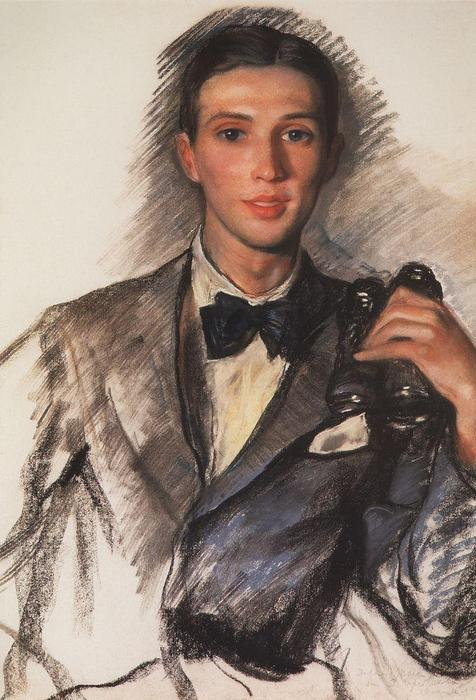 famous painting Portrait of the Artist D. Bushena  of Zinaida Serebriakova