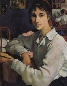 Zinaida Serebriakova - Self-portrait in a white blouse