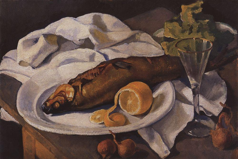 famous painting Clams and Lemon  of Zinaida Serebriakova
