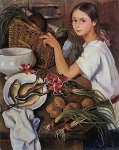 Zinaida Serebriakova - Tata with vegetables