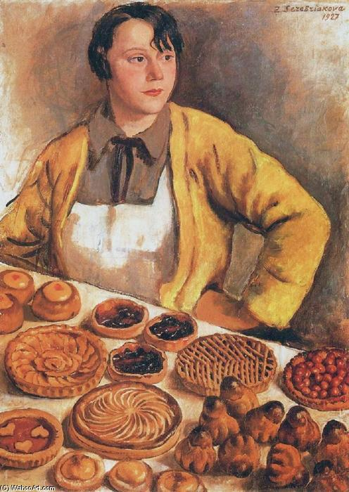 famous painting The breadseller from rue Lepic of Zinaida Serebriakova