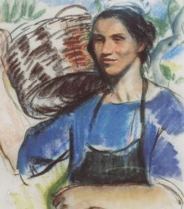 Zinaida Serebriakova - Cassis. A peasant woman with basket