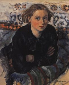 Zinaida Serebriakova - Portrait of daughter Katya