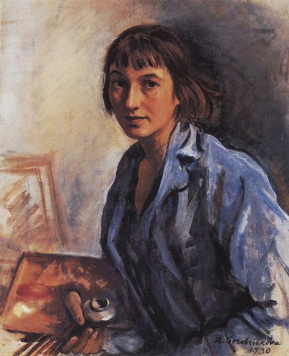 famous painting Self-portrait  of Zinaida Serebriakova