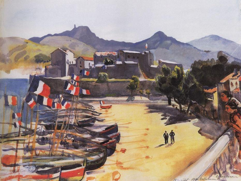 famous painting The Port of Collioure  of Zinaida Serebriakova