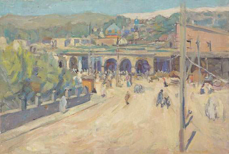 famous painting Square in Marrakesh  of Zinaida Serebriakova