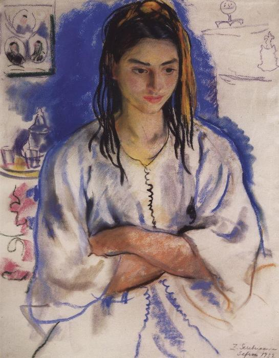 famous painting The Jewish girl from Sefrou  of Zinaida Serebriakova
