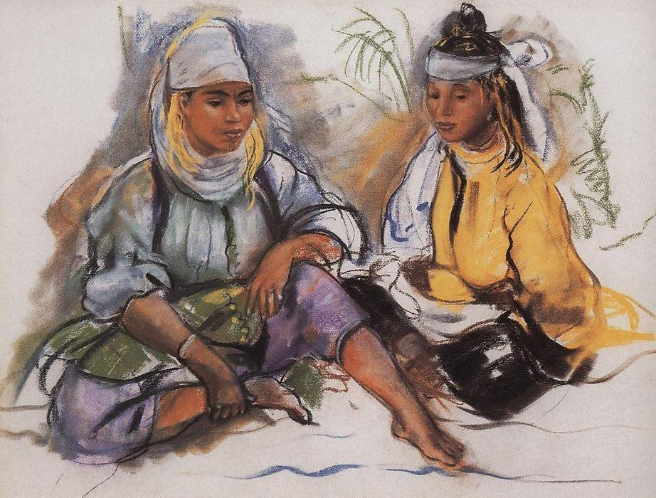 famous painting Two Moroccan  of Zinaida Serebriakova
