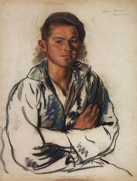 famous painting Portrait of a young fisherman  of Zinaida Serebriakova