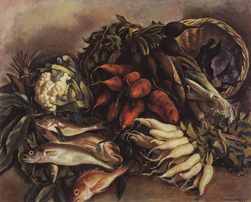 | The fish on the green  by Zinaida Serebriakova | TopImpressionists.com