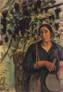 Zinaida Serebriakova - Italian peasant woman in a vineyard