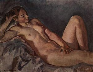 Zinaida Serebriakova - The Model, based on elbow