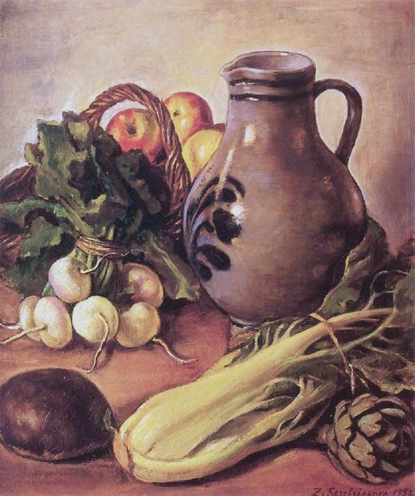 famous painting Still life with a jug of Zinaida Serebriakova