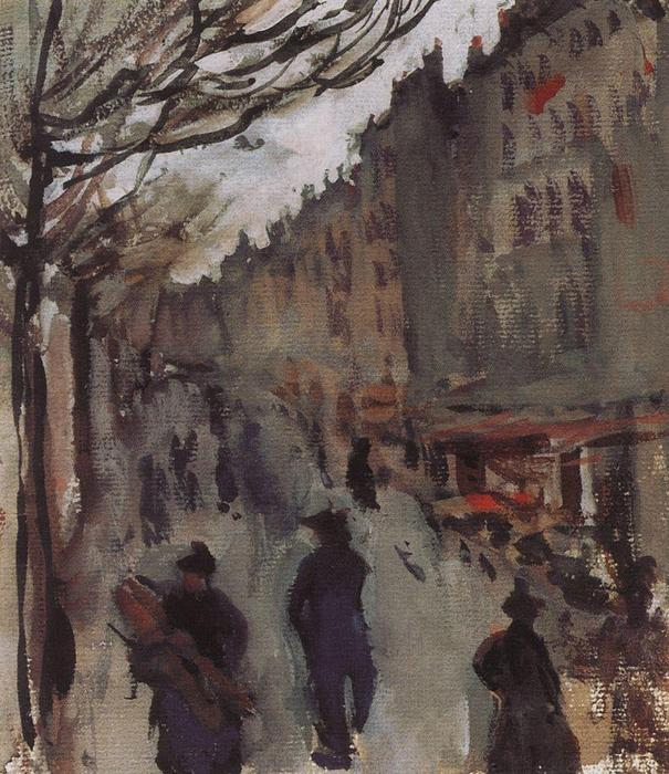 famous painting Boulevard in Paris  of Zinaida Serebriakova