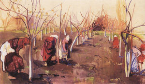 Zinaida Serebriakova - Digging trees in the garden