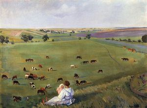 Zinaida Serebriakova - In the meadow