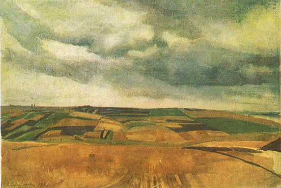 famous painting Fields in Neskuchnoye of Zinaida Serebriakova