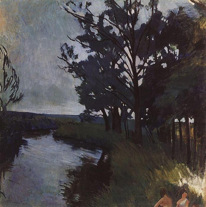 famous painting Landscape with a River  of Zinaida Serebriakova
