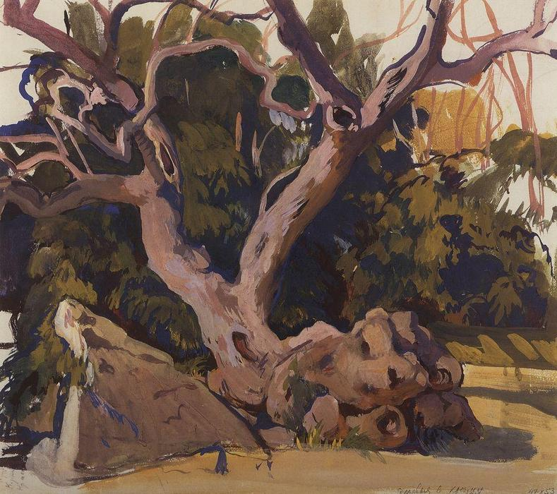 famous painting Trees in the Crimea  of Zinaida Serebriakova