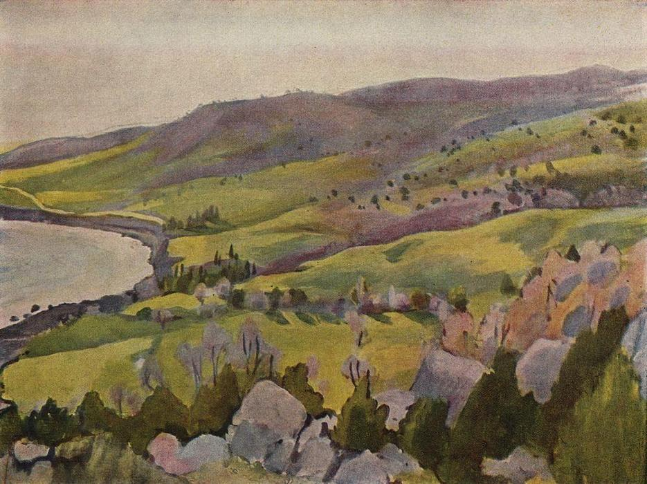 famous painting Spring in Crimea  of Zinaida Serebriakova