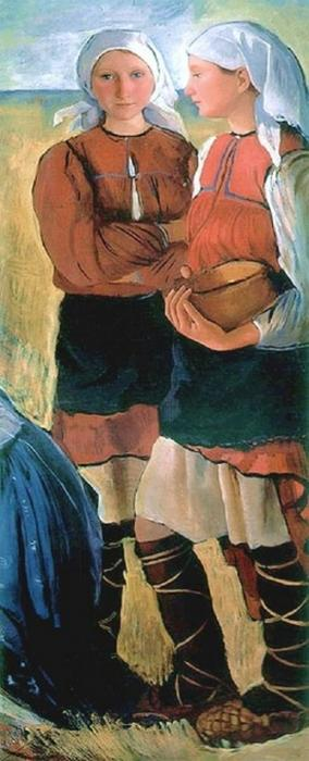 famous painting Two Peasant Girls of Zinaida Serebriakova