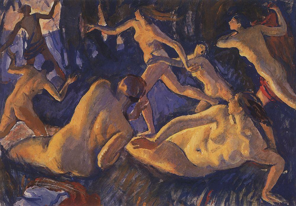 famous painting Diana and Actaeon  of Zinaida Serebriakova