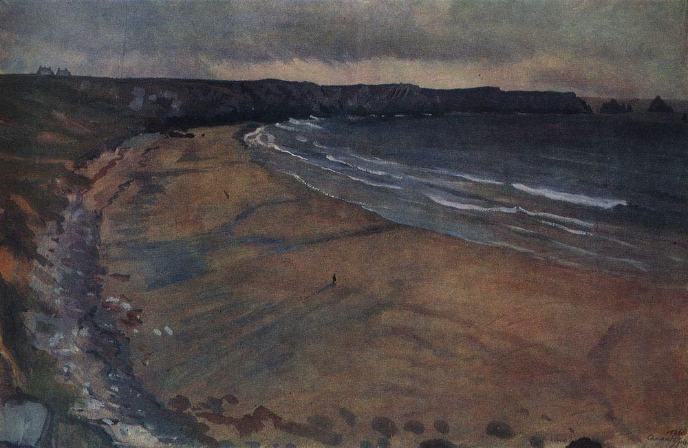 famous painting Brittany. Beach at Mosquito  of Zinaida Serebriakova