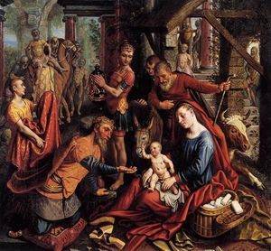 Pieter Aertsen - Triptych with the Adoration of the Magi (central panel)